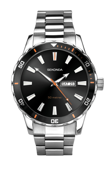 Image sur Sekonda Gent's Analogue Sports Watch with Black Sunray Dial