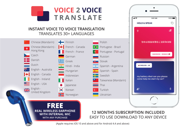 Image sur Translation App with Real Wireless Earphone