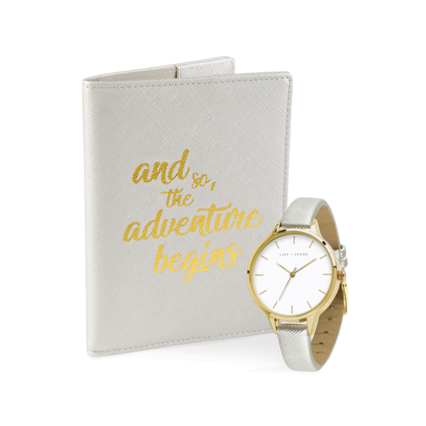 Image sur Lily + Stone Pearl Passport Cover and Watch Set